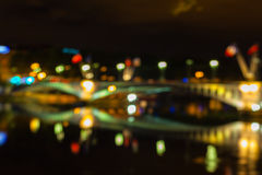 Defocused Cityscape of Lyon, France Royalty Free Stock Photography