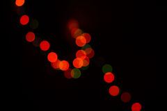 Defocused colored circular lights Royalty Free Stock Photos