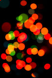 Defocused colored circular lights Royalty Free Stock Photography