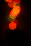 Defocused colored circular lights Royalty Free Stock Images