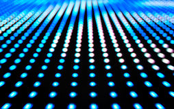Defocused colored LEDs, Blue blur abstract background. Ready for your design Royalty Free Stock Image