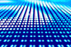 Defocused colored LEDs, Blue blur abstract background Stock Photo