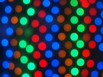 Defocused colored lights fill the entire frame Royalty Free Stock Image