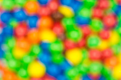 Defocused Colorful Candy Sweets Stock Image