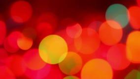Defocused colorful lights stock video footage