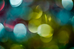 Defocused colorful lights Stock Images