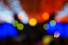 Defocused colorful new year party lights Stock Image