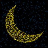 Defocused crescent moon Royalty Free Stock Photography
