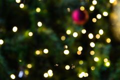 Defocused de l'arbre de Noël, Bokeh Images stock