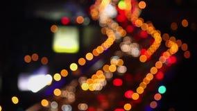 Defocused de la luz del coche, Shangai, China almacen de video