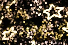 Defocused del árbol de navidad, Bokeh Foto de archivo libre de regalías