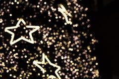 Defocused del árbol de navidad, Bokeh Imagen de archivo