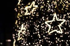 Defocused del árbol de navidad, Bokeh Imagenes de archivo