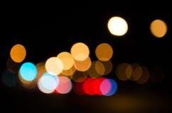Defocused des lumières de route Photos libres de droits