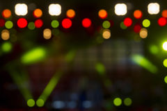 Defocused entertainment concert lighting on stage, bokeh. Royalty Free Stock Image