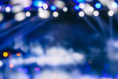 Defocused entertainment concert lighting on stage, bokeh. Stock Photography