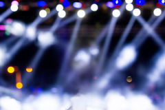 Defocused entertainment concert lighting on stage, bokeh. Royalty Free Stock Images