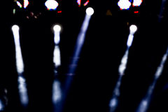 Defocused entertainment concert lighting on stage, bokeh. Stock Images