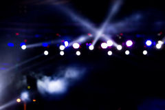 Defocused entertainment concert lighting on stage, bokeh. Defocused entertainment concert lighting on stage, bokeh royalty free stock images