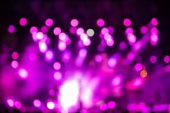 Defocused entertainment concert lighting on stage. Bokeh royalty free stock image