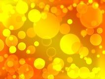 Defocused exponerad suddighet bokeh för guld Arkivfoto