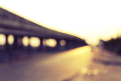Defocused of Express way Royalty Free Stock Photography