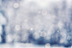 Defocused Falling Snow Background - Bokeh Royalty Free Stock Photography