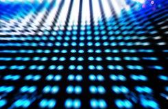 Defocused farbige LED, blauer Unschärfezusammenfassungshintergrund Stockfotos