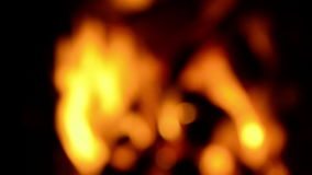 Defocused fire of a campfire Royalty Free Stock Image