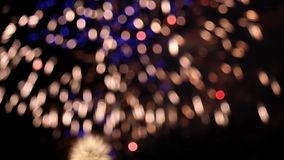 Defocused firework pyrotechnic stock video