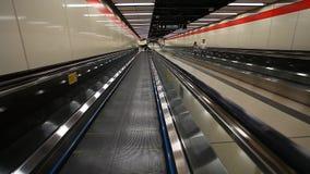 Defocused footage in subway stock video