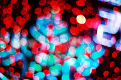Defocused frost bokeh lights Royalty Free Stock Image