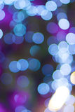 Defocused of glitter or blue bokeh Stock Photo