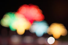 Defocused of glitter or colorful bokeh Royalty Free Stock Image