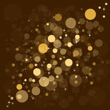 Defocused gold abstract christmas background Stock Photos
