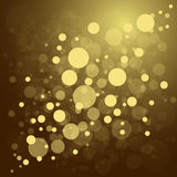 Defocused gold abstract christmas background Royalty Free Stock Image