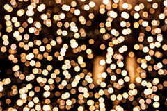 Defocused gold circle in technique bokeh Royalty Free Stock Photos