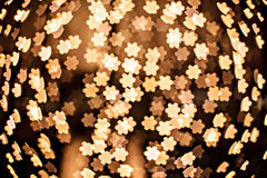 Defocused gold flower in technique bokeh Royalty Free Stock Images