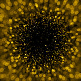 Defocused gold sparkle glitter lights background Royalty Free Stock Photo