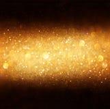Defocused goldenes bokeh Licht. Lizenzfreie Stockbilder
