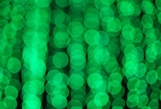 Defocused green lights abstract background photo Stock Images