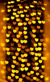 Defocused heart lights Royalty Free Stock Photos