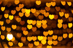 Defocused heart lights Stock Image