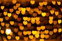Defocused heart lights Stock Image