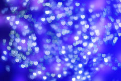 Defocused heart lights Royalty Free Stock Images