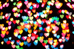 Defocused hearts Royalty Free Stock Photo