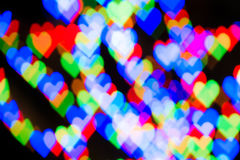 Defocused hearts background Royalty Free Stock Photos