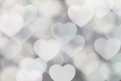 Defocused hearts royalty free stock images