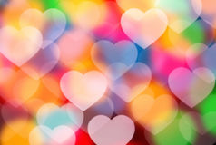 Defocused hearts Stock Images