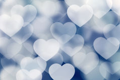 Defocused hearts Stock Image